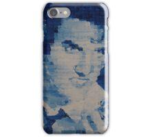 Pixelated Blue Elvis Painting iPhone Case/Skin