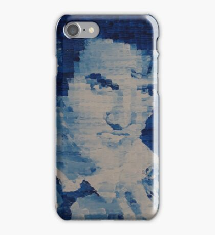 Pixelated Blue Elvis Painting iPhone Case/Skin