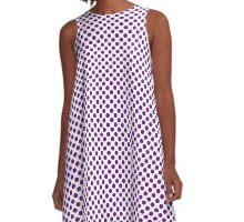 Winterberry Polka Dots A-Line Dress