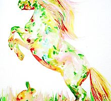 HORSE and RABBIT by lautir