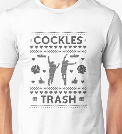 Cockles Trash Ugly XMAS Sweater Unisex T-Shirt