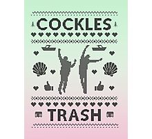 Cockles Trash Ugly XMAS Sweater Photographic Print
