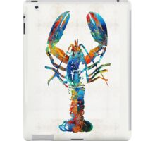 Colorful Lobster Art by Sharon Cummings iPad Case/Skin