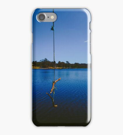 Rope swing on a lake iPhone Case/Skin