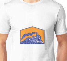Steam Locomotive Train Coming Crest Retro Unisex T-Shirt