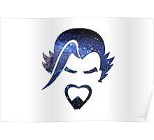Overwatch Hanzo Galaxy Design Poster