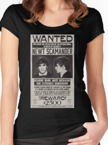 Fantastic Beast Newt Scamander Wanted Women's Fitted Scoop T-Shirt
