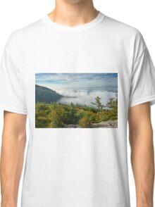 landscape, fog, mist, Escarpment Classic T-Shirt