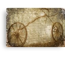 Bicycle Facsimile In Grunge Canvas Print