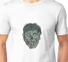 Zombie Skull Head Drawing Unisex T-Shirt