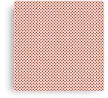 Tangerine Tango Polka Dots Canvas Print