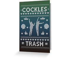 Cockles Trash Ugly XMAS Sweater - White Greeting Card