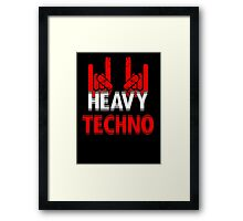 Heavy Techno Rocks Framed Print