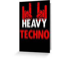 Heavy Techno Rocks Greeting Card