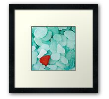 Sea glass background Framed Print