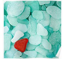 Sea glass background Poster