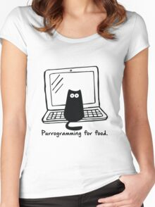 Purrogramming for food Women's Fitted Scoop T-Shirt
