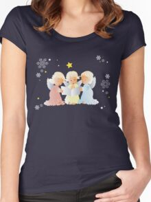 Christmas carols Women's Fitted Scoop T-Shirt