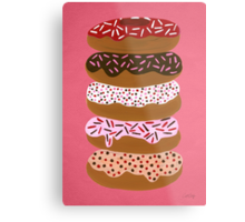 Donuts Stacked on Cherry Metal Print