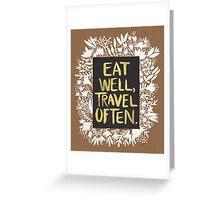 Eat Well, Travel Often – Kraft Greeting Card