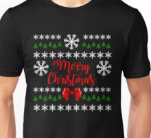 Funny Ugly Christmas Sweater Gift, Merry Christmas T-Shirt Unisex T-Shirt