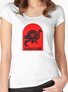 Flightless Records Tee Women's Fitted Scoop T-Shirt