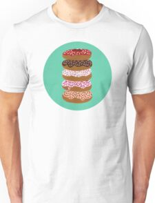 Donuts Stacked on Mint Unisex T-Shirt