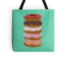 Donuts Stacked on Mint Tote Bag