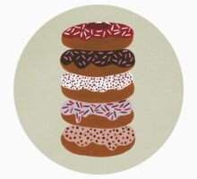 Donuts Stacked on Cream T-Shirt