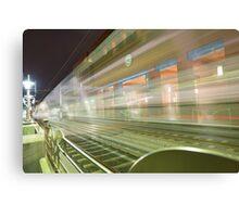 Transparent Trains Canvas Print