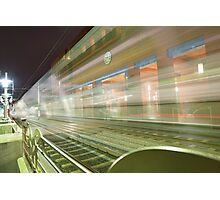 Transparent Trains Photographic Print