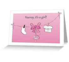 Baby Birth Announcement Card Girl Greeting Card