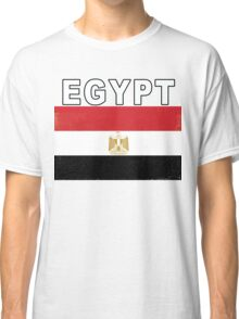 Egyptian Distressed Flag Egypt Soccer Shirt Classic T-Shirt