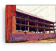 Watercolor Garage Canvas Print