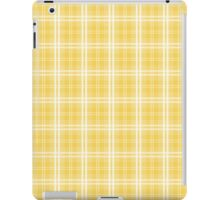 Spring 2017 Designer Color Primrose Yellow Tartan Plaid Check iPad Case/Skin