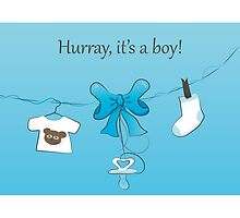 Baby Birth Announcement Card Boy by nanscljc