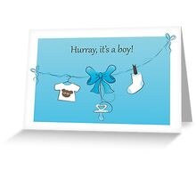 Baby Birth Announcement Card Boy Greeting Card