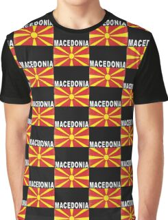 Macedonian Distressed Flag Soccer Team Graphic T-Shirt