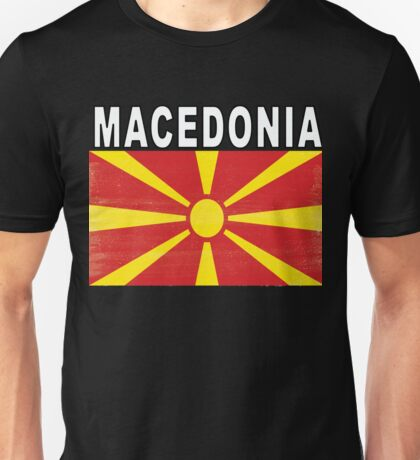 Macedonian Distressed Flag Soccer Team Unisex T-Shirt