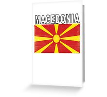 Macedonian Distressed Flag Soccer Team Greeting Card