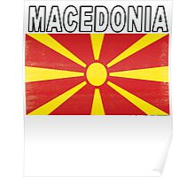 Macedonian Distressed Flag Soccer Team Poster