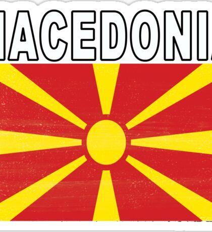 Macedonian Distressed Flag Soccer Team Sticker