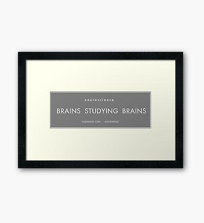 Brains studying Brains Framed Print