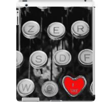 like on old typewriter iPad Case/Skin