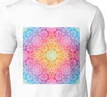 rainbow aura mandala design Unisex T-Shirt