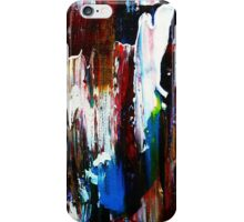 Coney Island (Part 1) acrylics on stretched canvas abstract impressionism iPhone Case/Skin