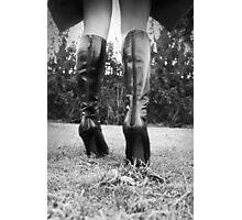 Winter walk b&w - high resolution Photographic Print
