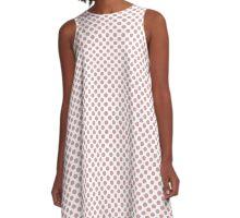 Bridal Rose Polka Dots A-Line Dress