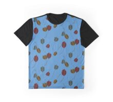 Leaping Cats (Blue) Graphic T-Shirt