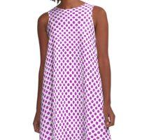 Dazzling Violet Polka Dots A-Line Dress